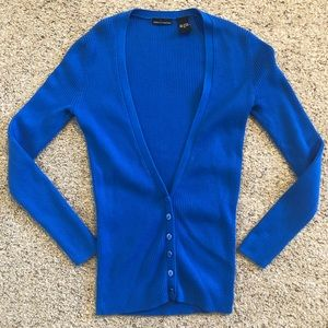 Moda International Cobalt Royal Blue Knit Cardi